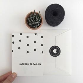 Letterpress geboortekaartje Jack