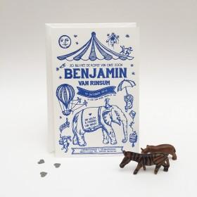 Geboortekaartje-letterpress-benjamin-voorkant-circus