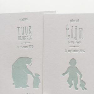 geboortekaartje-zachtgroen-tijn-tuur-beren-grotebeer-kleinebeer-silhouet-jongenskaartje-letterpresskaartje-cotton-paper-cottonpaper