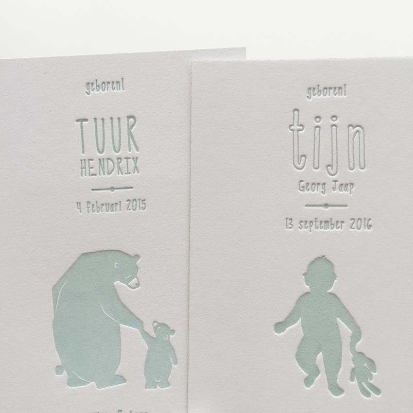 kleine geboortekaartjes