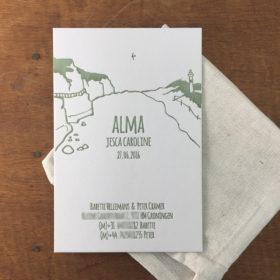 letterpress-geboortekaartje-alma-kustlijnen-zee-strand-illustratie-handgemaakt-zwaluw-schotsekust-alma-duinen