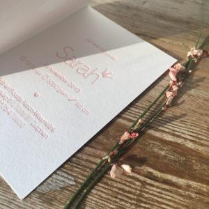 letterpress-geboortekaartje-sarah-kroontje-diepe-indruk-diepdruk-relief-poederroze-roze-zoet-handgedrukt-drukpers