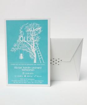 Letterpress-geboortekaartje-Ollie-boom-schommel-jongetje-blauw-illustratie1-