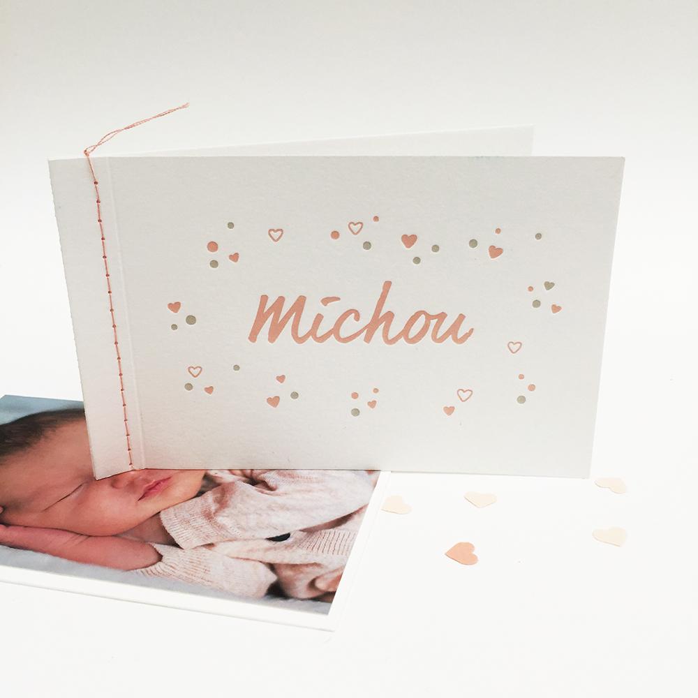 Letterpress-geboortekaartje-michou-roze-hartjes-naairandje-1