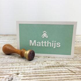 Geboortekaartje Matthijs