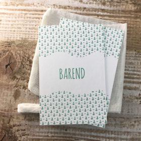 letterpress geboortekaartje Barend zeilbootje
