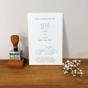 letterpress-geboortekaartje-origami-olifantjes-vouwkunst-sepp-handgedrukt-geboortekaartjeopmaat-babyblauw-schattig-lief-uniek