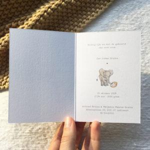 aquarel-geboortekaartje-olifantje-elephant-wiegje-kribbe-baby-jungle-afrika-savanne-giraffe-waterverf-uniek-illustratie-handgetekend